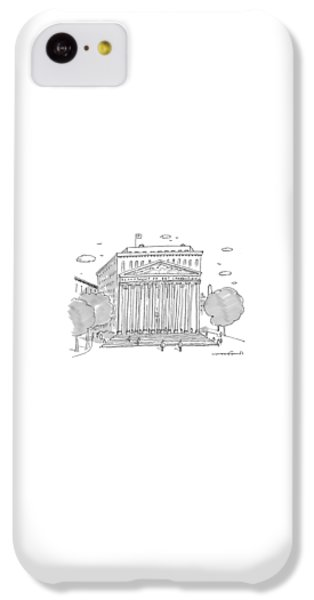 Washington D.c iPhone 5c Case - A Building In Washington Dc Is Shown by Michael Crawford