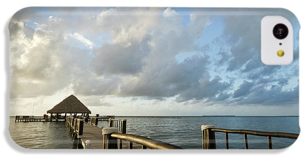 Belize iPhone 5c Case - A Dock And Palapa, Placencia, Belize by William Sutton