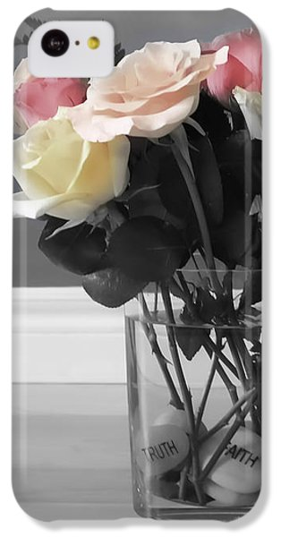 Rose iPhone 5c Case - A Foundation Of Love by Cathy Beharriell