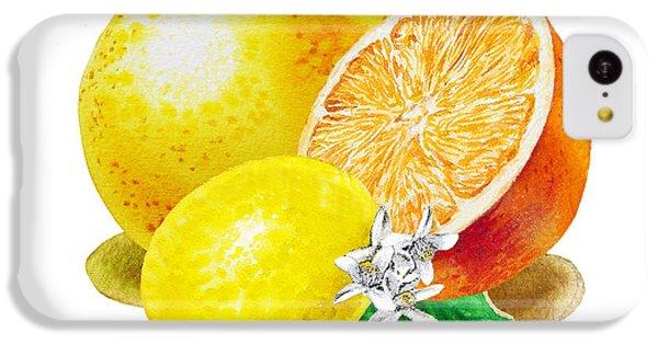 A Happy Citrus Bunch Grapefruit Lemon Orange IPhone 5c Case