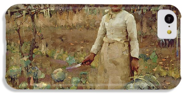 A Hinds Daughter, 1883 Oil On Canvas IPhone 5c Case by Sir James Guthrie
