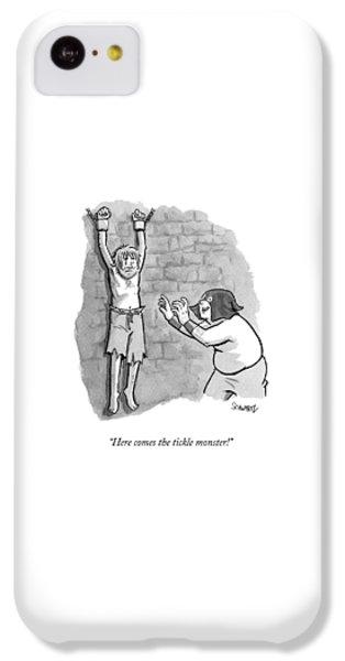 Dungeon iPhone 5c Case - A Medieval Torturer Approaches A Hanging by Benjamin Schwartz