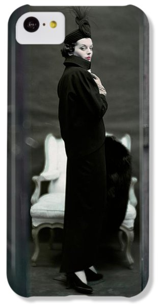 A Model Wearing An Adele Simpsons Ensemble IPhone 5c Case by John Rawlings