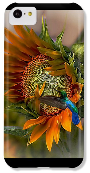 Sunflower iPhone 5c Case - A Moment In Time by John  Kolenberg