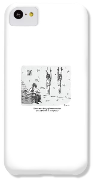 Dungeon iPhone 5c Case - A Prisoner In A Dungeon Speaks To A Torturer Who by Zachary Kanin
