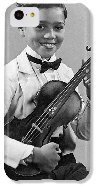 Violin iPhone 5c Case - A Proud And Elegant Violinist by Underwood Archives