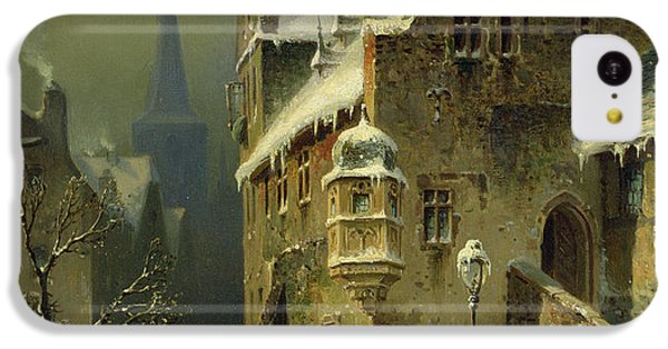 A Small Town In The Rhine IPhone 5c Case by August Schlieker