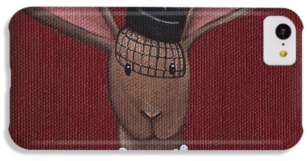 A Sophisticated Bunny IPhone 5c Case by Christy Beckwith