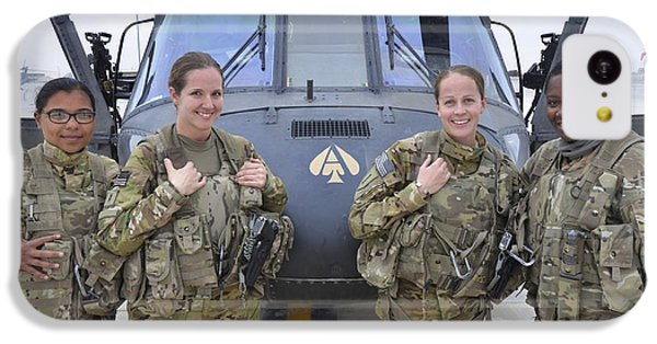 Helicopter iPhone 5c Case - A U.s. Army All Female Crew by Stocktrek Images