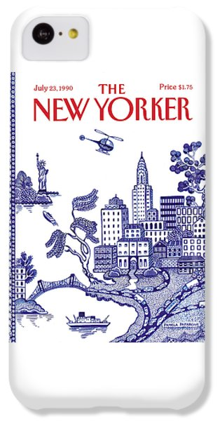 Helicopter iPhone 5c Case - A View Of New York City by Pamela Paparone