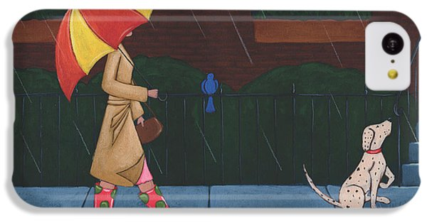 A Walk On A Rainy Day IPhone 5c Case by Christy Beckwith