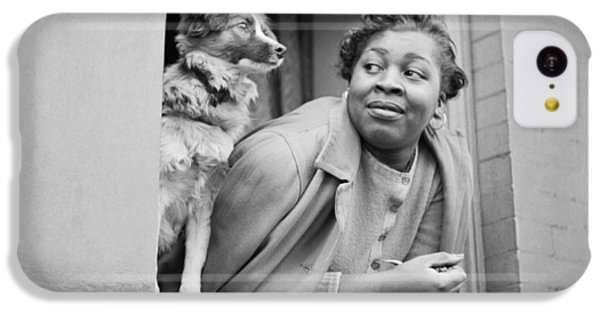 Harlem iPhone 5c Case - A Woman And Her Dog by Gordon Parks