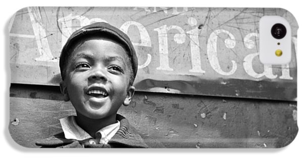 A Young Harlem Newsboy IPhone 5c Case by Underwood Archives