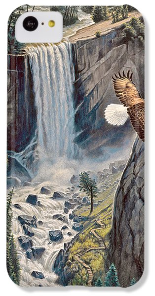 Eagle iPhone 5c Case - Above The Falls - Vernal Falls by Paul Krapf