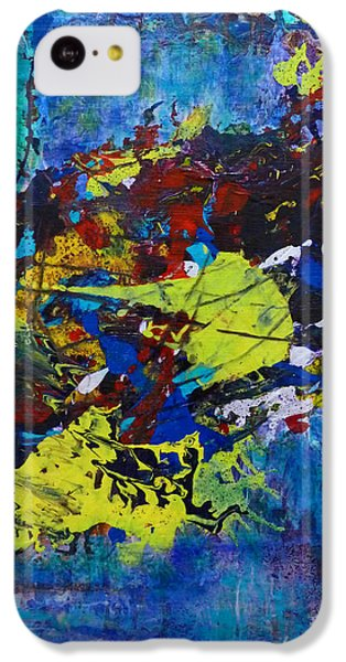IPhone 5c Case featuring the painting Abstract Fish  by Claire Bull