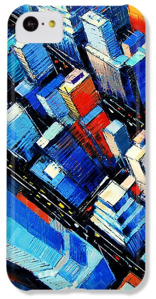Abstract New York Sky View IPhone 5c Case by Mona Edulesco