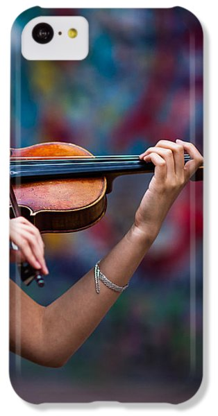 Violin iPhone 5c Case - Abstracts From Vivaldi - Featured 3 by Alexander Senin