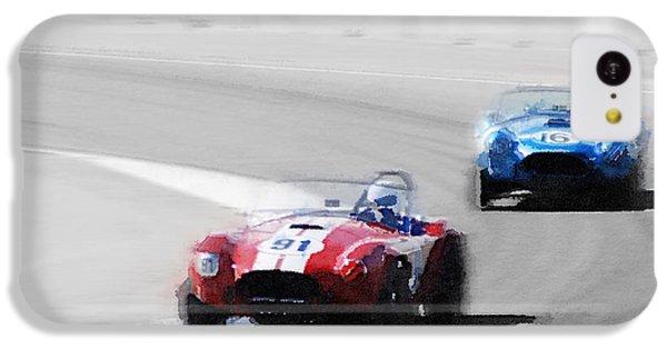 Cobra iPhone 5c Case - Ac Cobra Racing Monterey Watercolor by Naxart Studio