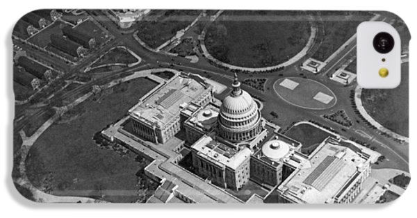 Aerial View Of U.s. Capitol IPhone 5c Case by Underwood Archives