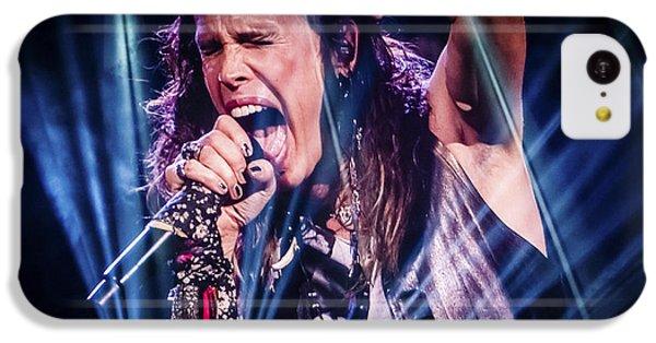 Aerosmith Steven Tyler Singing In Concert IPhone 5c Case by Jani Bryson