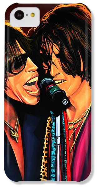 Aerosmith Toxic Twins Painting IPhone 5c Case by Paul Meijering