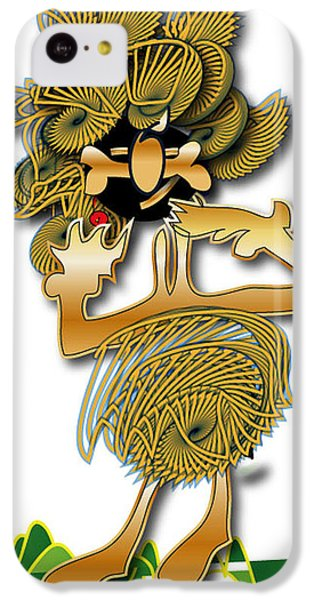IPhone 5c Case featuring the digital art African Dancer With Bone by Marvin Blaine