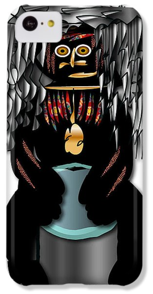 IPhone 5c Case featuring the digital art African Drummer 2 by Marvin Blaine