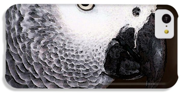 African Gray Parrot Art - Seeing Is Believing IPhone 5c Case