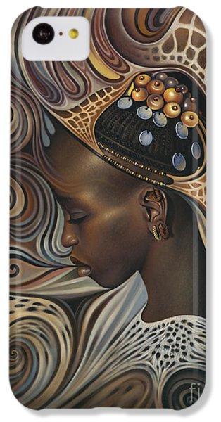 Brown Snake iPhone 5c Case - African Spirits II by Ricardo Chavez-Mendez