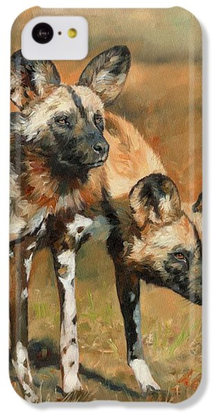 iPhone 5c Case - African Wild Dogs by David Stribbling
