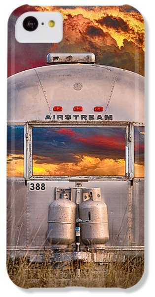 Airstream Travel Trailer Camping Sunset Window View IPhone 5c Case