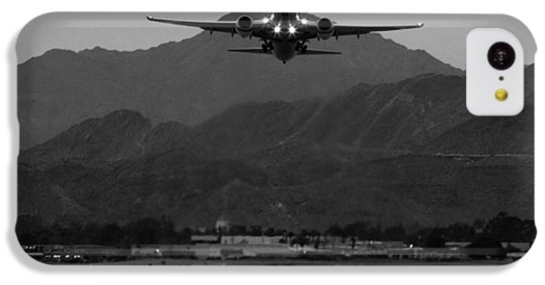 Alaska Airlines Palm Springs Takeoff IPhone 5c Case by John Daly