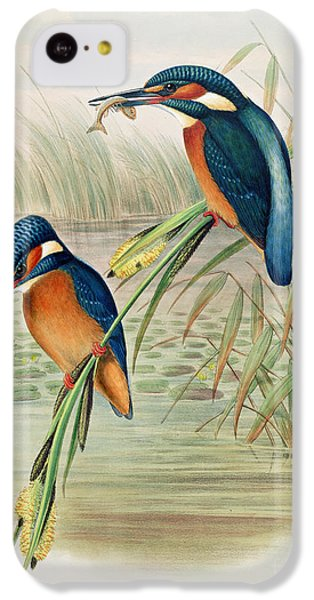 Alcedo Ispida Plate From The Birds Of Great Britain By John Gould IPhone 5c Case by John Gould William Hart