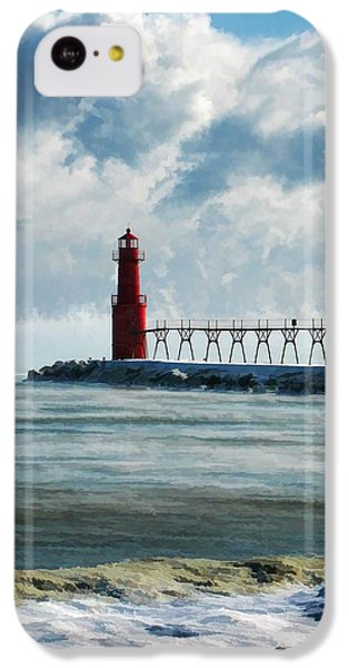 Algoma Pierhead Lighthouse IPhone 5c Case by Christopher Arndt