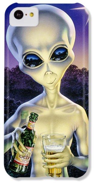 Alien Brew IPhone 5c Case by Steve Read