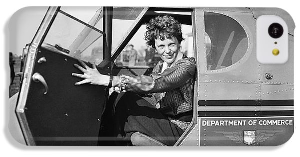 Amelia Earhart - 1936 IPhone 5c Case by Daniel Hagerman