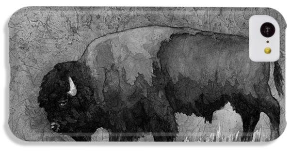 Monochrome American Buffalo 3  IPhone 5c Case by Hailey E Herrera