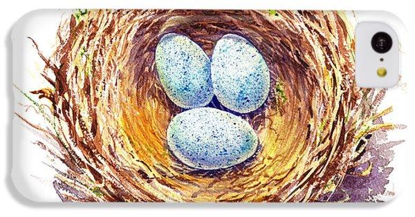 American Robin Nest IPhone 5c Case by Irina Sztukowski