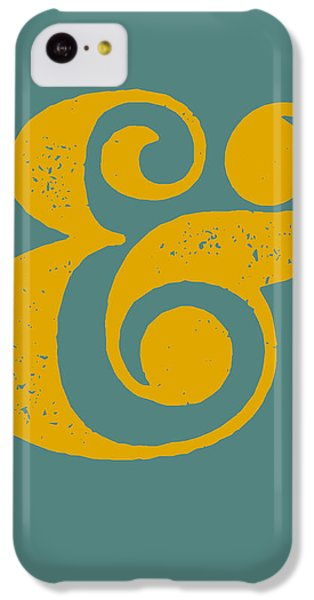 Ampersand Poster Blue And Yellow IPhone 5c Case by Naxart Studio