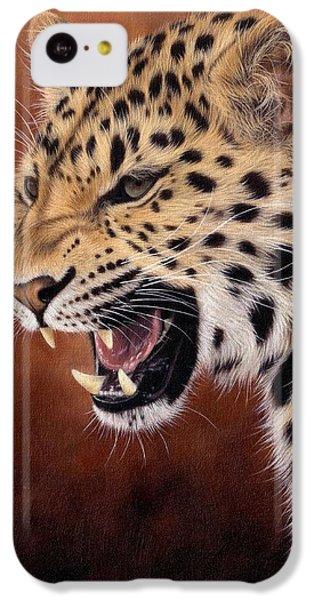Amur Leopard Painting IPhone 5c Case by Rachel Stribbling