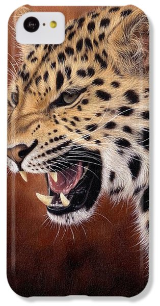 Amur Leopard Painting IPhone 5c Case by Rachel Stribbling