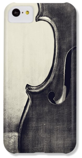 Violin iPhone 5c Case - An Old Violin In Black And White by Emily Kay