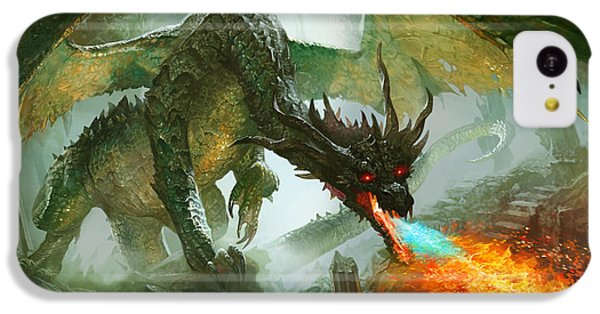 Fantasy iPhone 5c Case - Ancient Dragon by Ryan Barger