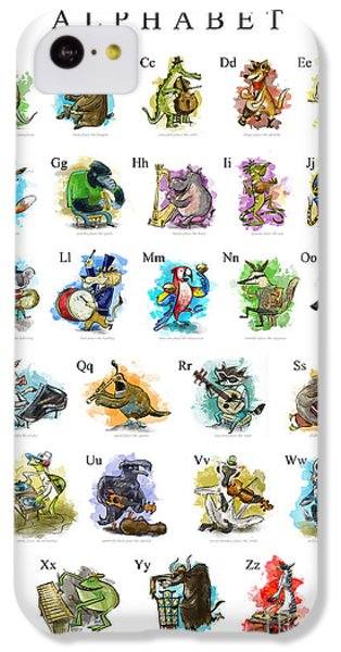 Animals And Instruments Alphabet IPhone 5c Case