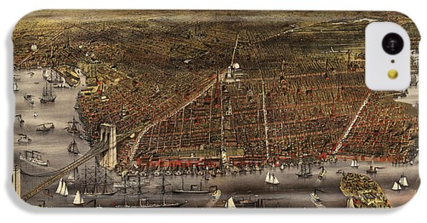 Antique Map Of Brooklyn By Currier And Ives - Circa 1879 IPhone 5c Case