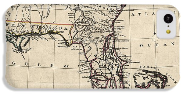 Antique Map Of Florida And The Southeast By Thomas Jefferys - 1768 IPhone 5c Case