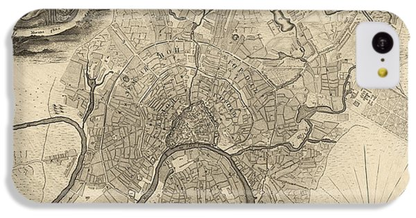 Antique Map Of Moscow Russia By Ivan Fedorovich Michurin - 1745 IPhone 5c Case by Blue Monocle