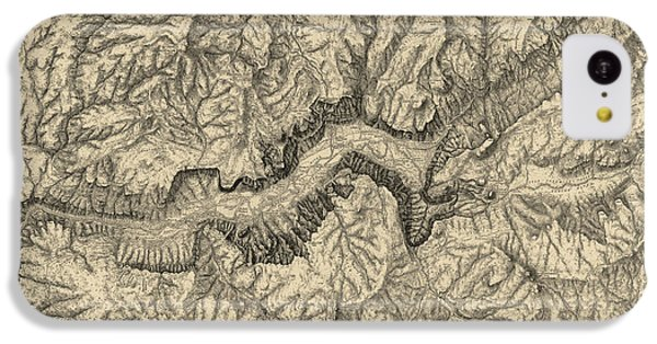 Antique Map Of Yosemite National Park By George M. Wheeler - Circa 1884 IPhone 5c Case