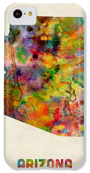 Arizona Watercolor Map IPhone 5c Case by Michael Tompsett