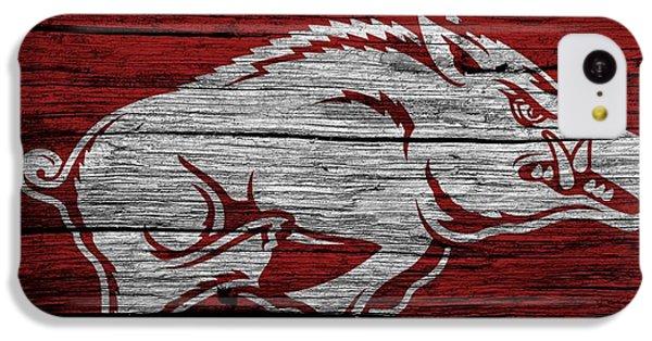 Arkansas Razorbacks On Wood IPhone 5c Case by Dan Sproul